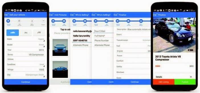 Carmudi App List of Car for Sale