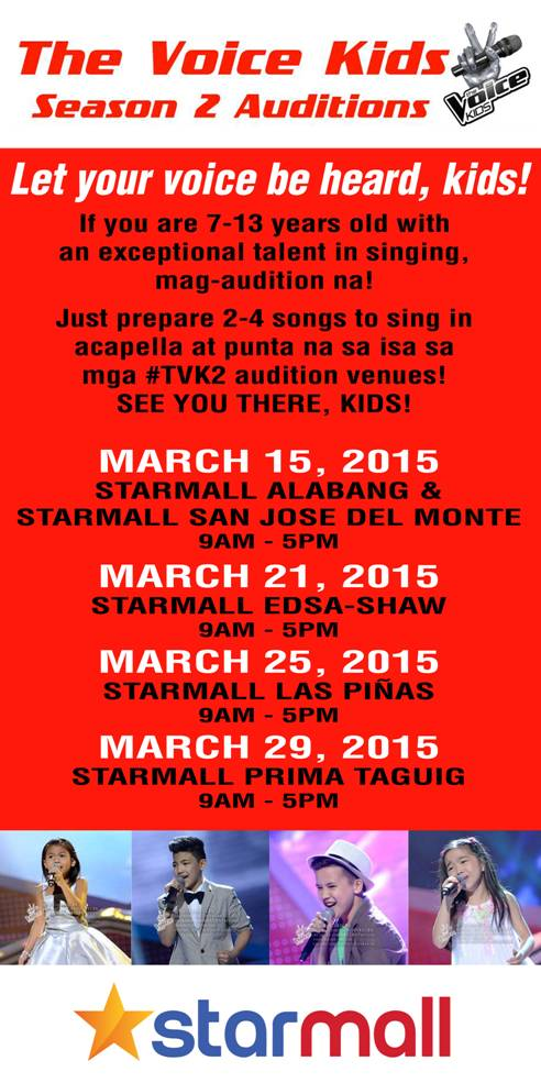 The Voice Kids Season 2 goes to Starmall
