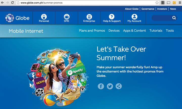 Globe Lets Take Over Summer