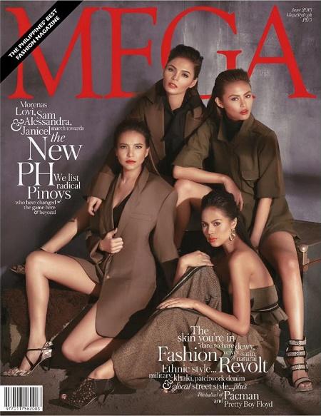 Lovi Poe, Alessandra De Rossi, Janicel Lubina and Sam Pinto for Mega June 2015 Issue