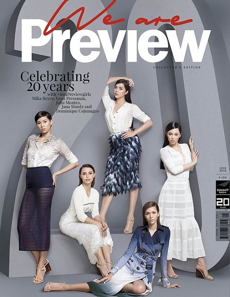 Julia Montes, Yassi Pressman, Dominique Cojuangco, Mika Reyes, Jana Stuntz  for  Preview June 2015