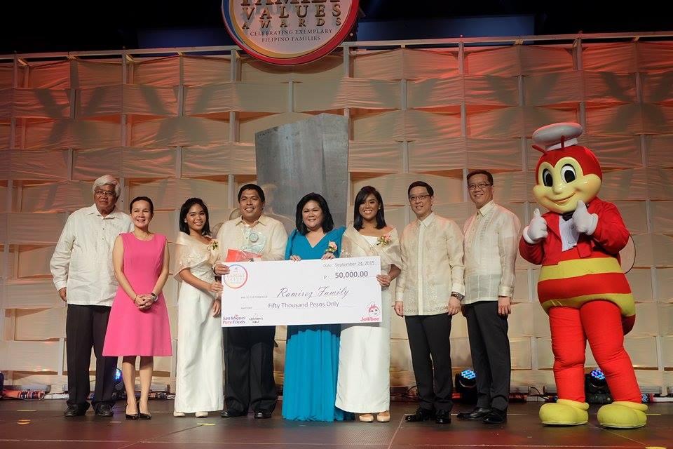 Jollibee Family Value Awards 2015 Winners