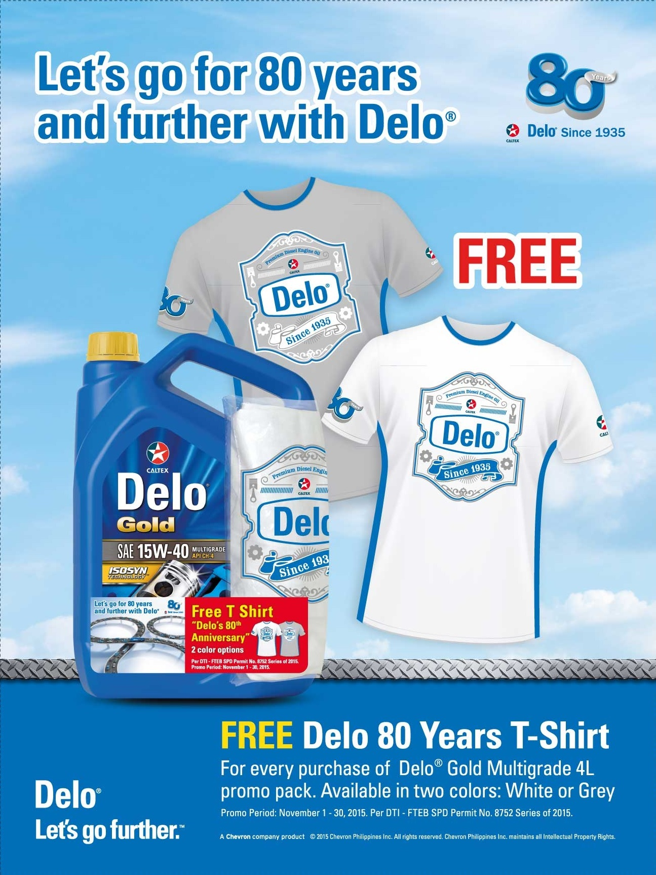 Delo 80 years free shirt