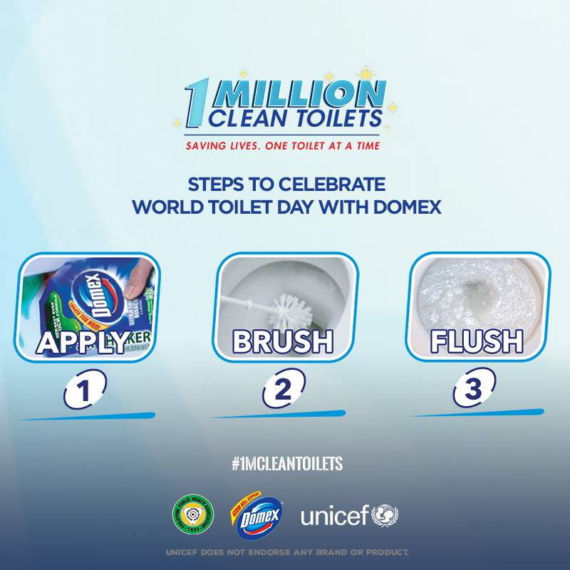 Domex 1 Million Clean Toilets