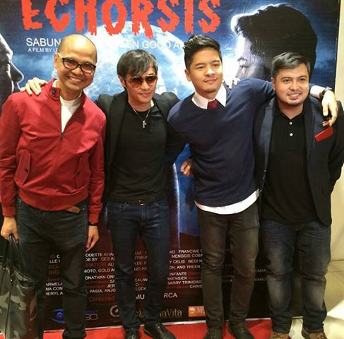 (L-R)  Chris Cahilig of Insight 360, Kean Cipriano, Alex Medina and Director