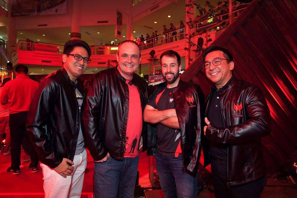From left to right: Miguel Molina (Senior Product Manager, Xsplit Philippines), Calum Chisholm (Country Manager, Intel Philippines), Steven Funcke (Predator Marketing Manager and Global Representative), Jerome Matti (Consumer Sales Manager, NVIDIA Philippines)