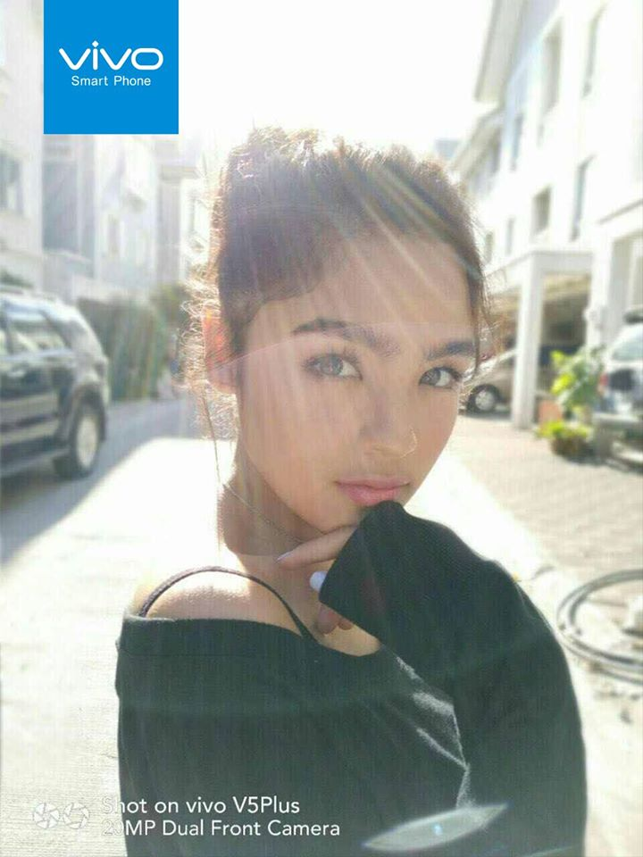 Well-loved teen star Andrea Brillantes urges her fans to help her win the Vivo V5 Plus PerfectSelfie Cup