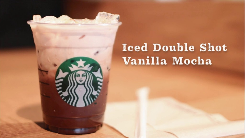 Iced double shot Vanilla Mocha
