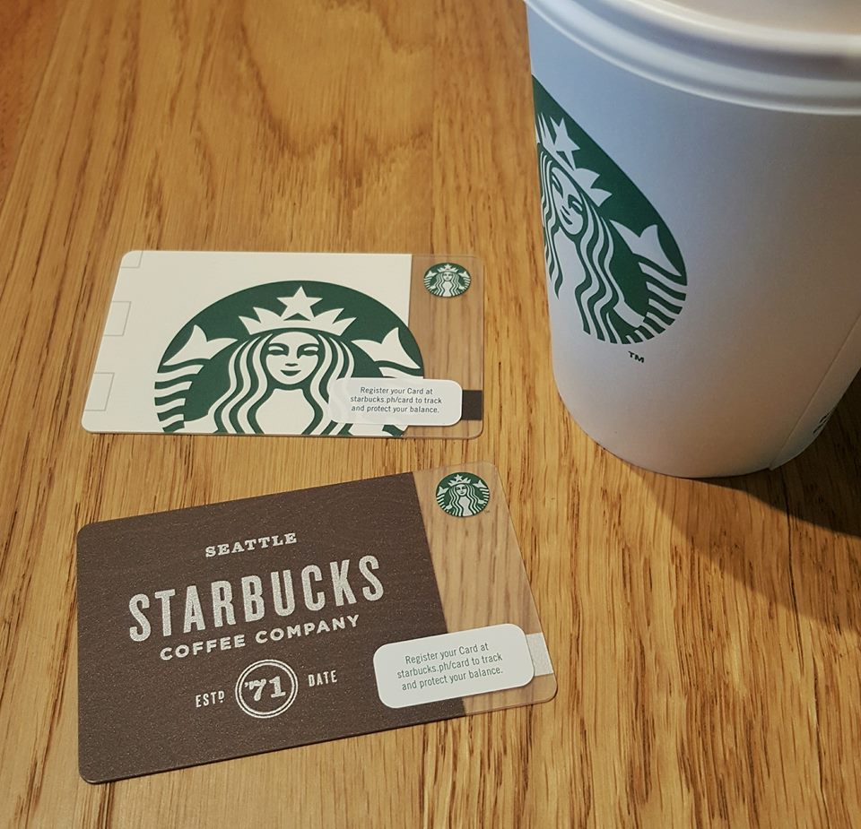 Starbucks Cards_White Cup and Woodmark