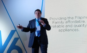 Concepcion Midea Inc. Philippines General Manager Phillip Trapaga emphasizes the mission of the partnership between Philippines' Concepcion Industrial Corp. (CIC) and China's Midea during the Midea V6 Series VRF Launch recently held at the Shangri-La at the Fort.