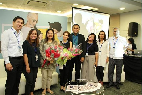 Jackielou Blanco, Angeli Pangilinan-Valenciano and SM Executives during the Grandparents' Day Media Conference held at SM Mall of Asia Arena Building Annex in Pasay City,