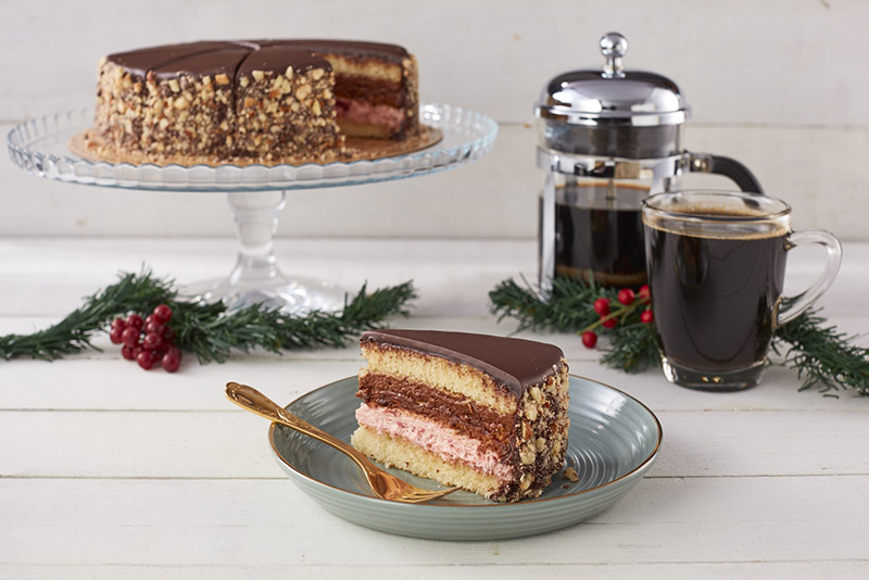 Belgian Chocolate Strawberry Cake
